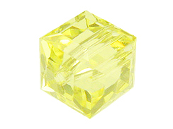 Yellow Swarovksi Crystal Cube or Square