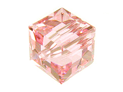 Pink  or October Swarovksi Crystal Cube or Square