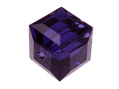 Purple Swarovksi Crystal Cube or Square