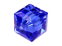 Sapphire Swarovksi Crystal  Cube or Square