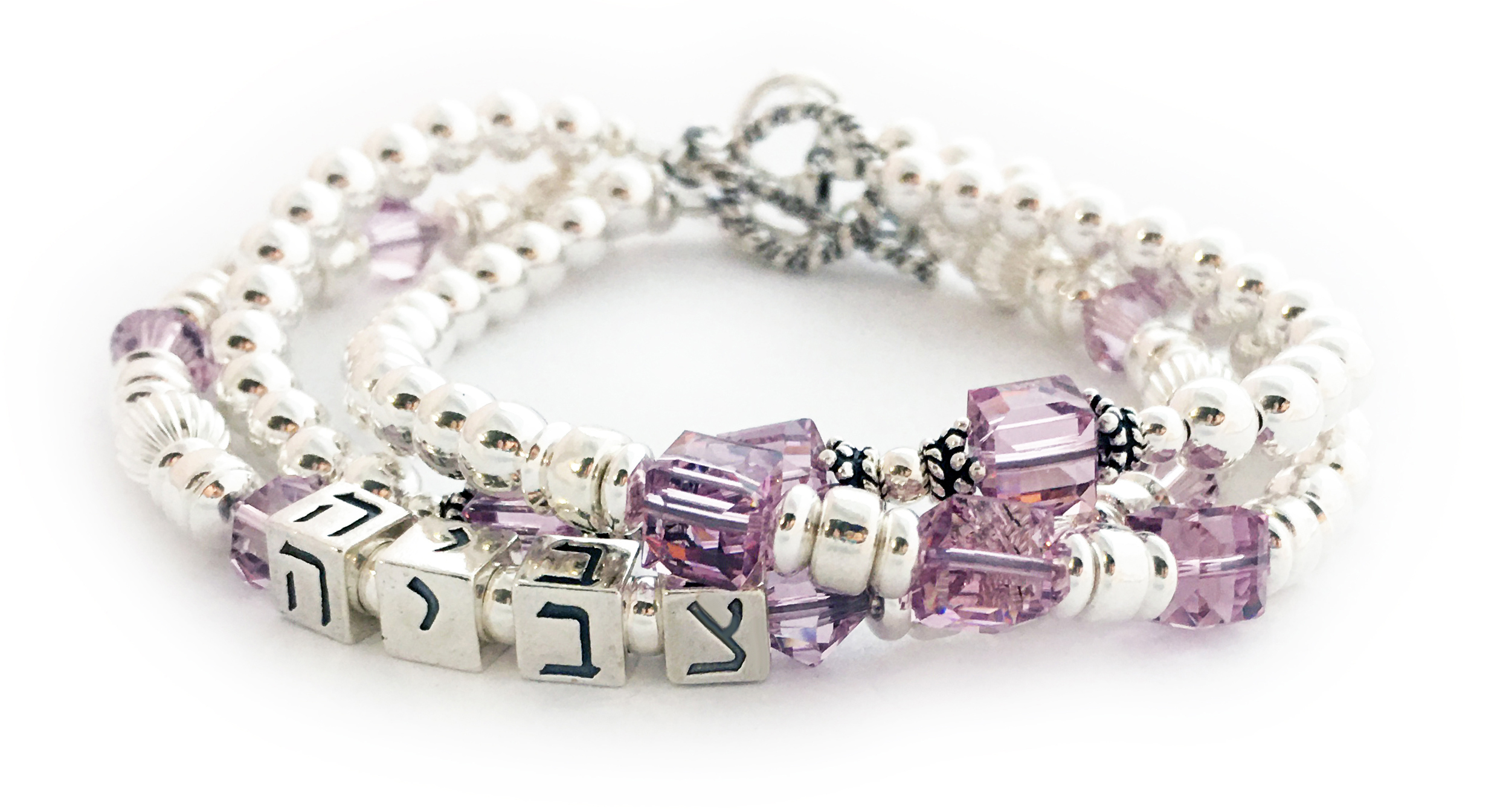 Mommy Hebrew Sterling Silver Mother Bracelets