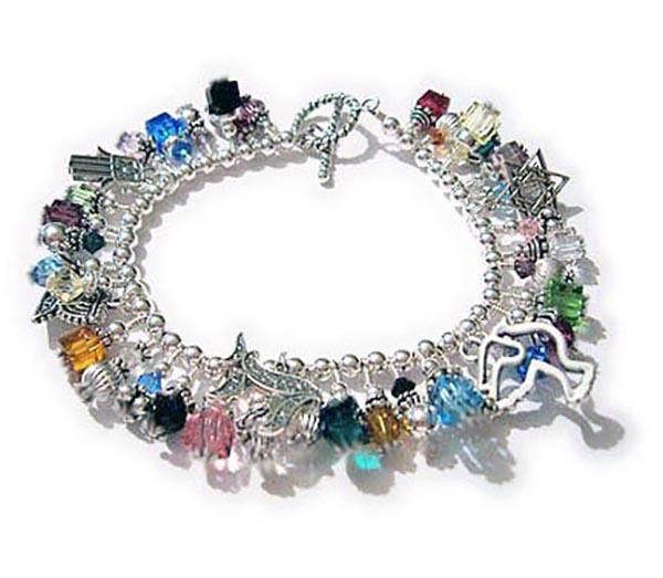 Handmade Chanukah Gift Ideas - Judiac Charm Bracelets Jewish Charm Bracelet Gift ideas for Jewish Moms and Jewish Grandmas