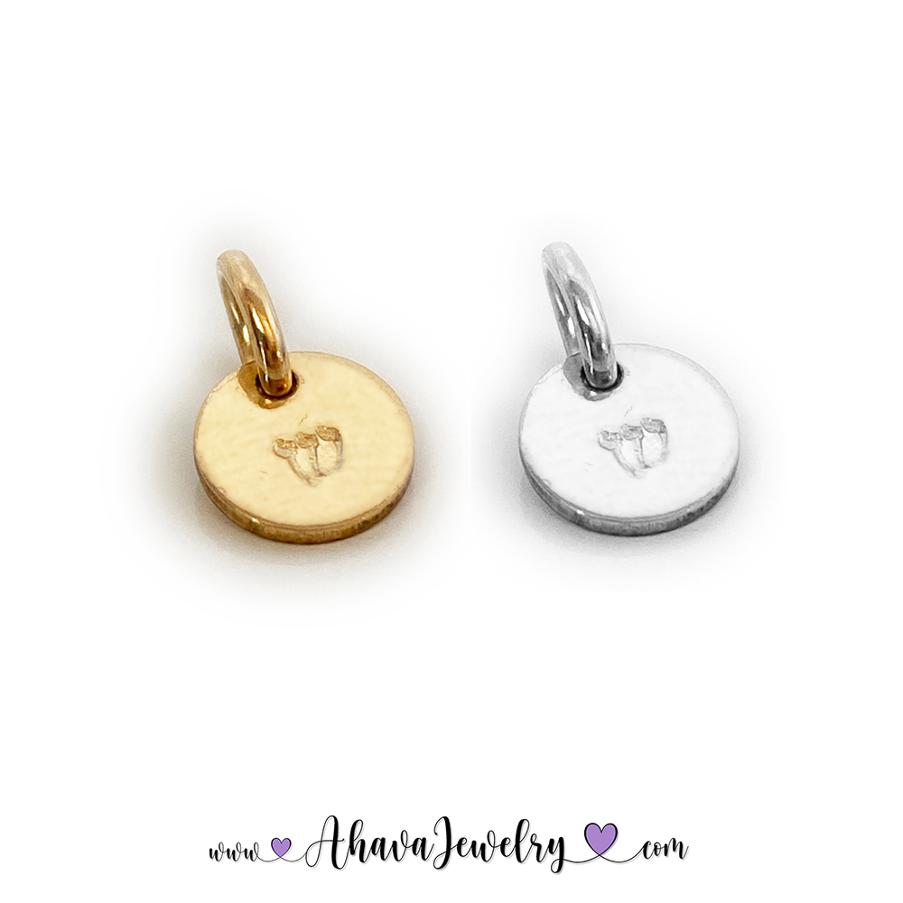 Hebrew Charms - Hebrew Initial Charms - Shin shown