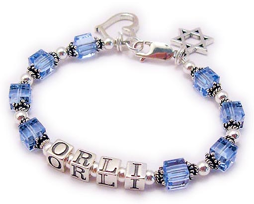 ORLI Bracelet with a Heart Charm and Star of David Charm AJ-S7