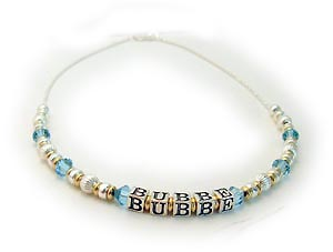 Gold & Silver Hebrew Bubbe Necklace