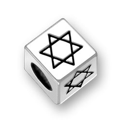 Star of David Block Bead
