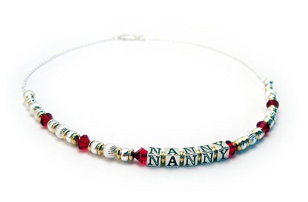 Nanny Necklace *Available with Hebrew or English Letter Blocks*  AJ-G1 Necklace
