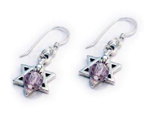 Star of David Earrings & Necklace