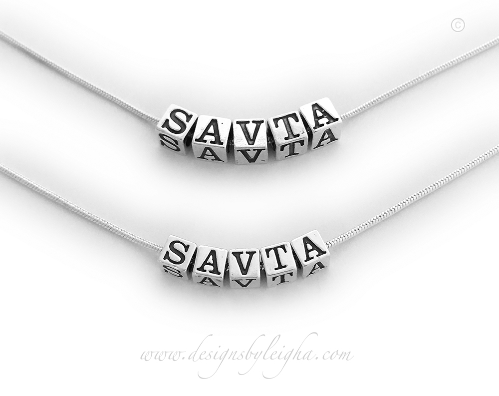 Savta is shown in 4.5mm and 5.5mm block letters. You have 2 sizes of English block letters but the Hebrew block letters only come in one size: 5.5mm.